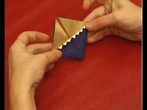 Papír karácsonyfadísz hajtogatás, origami