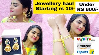 MYNTRA HAUL | Amazon/Flipkart Jewellery haul | Affordable | Myntra online shopping | Jewels Galaxy |