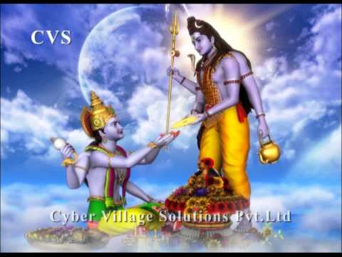 Viswanathashtakam - Lord Shiva Devotional 3d Animation God Bhajan Songs  Maha Shivaratri Special video