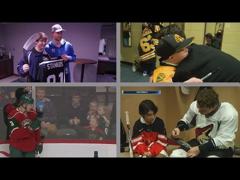 Hockey Players Making Fans' Days