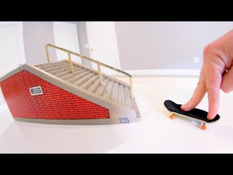 Epic Fingerboard 16 Stair Handrail! / Hollywood High