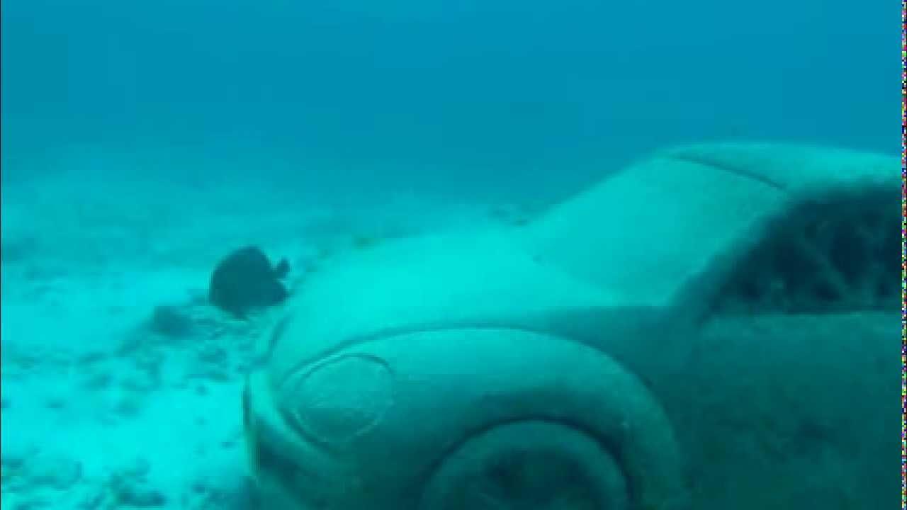 Underwater Museum Sunken Car Statue Youtube
