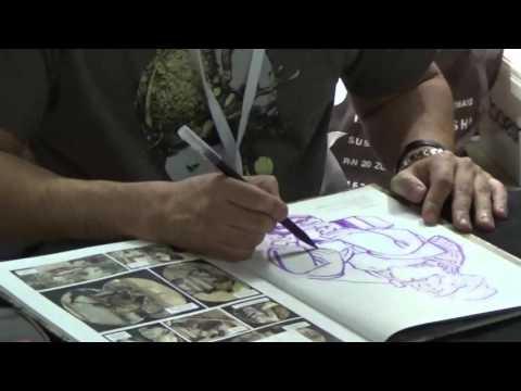 Kim Jung Gi drawing @ Paris Comics Expo 17 april 2016 - avril - show