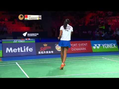 Yonex Denmark Open 2015 | Badminton F M4-WS | Li Xuerui vs P.V Sindhu
