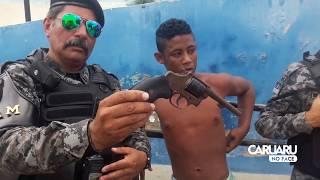Equipes do Biesp e 4°BPM apreendem arma, droga e assaltantes em Caruaru