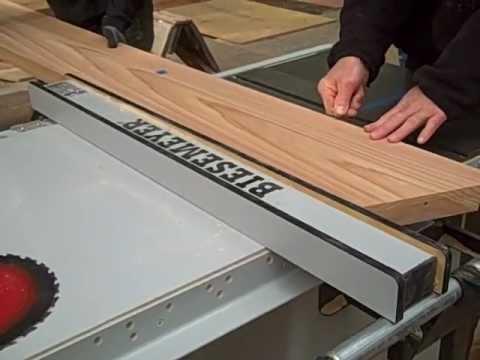 Haciendo un corte ancho con la sierra de mesa - YouTube