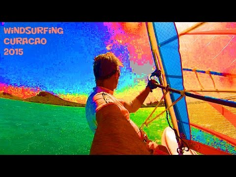 Colorful - Windsurfing Curaçao - februari 2015 (Windsurfen Curacao)