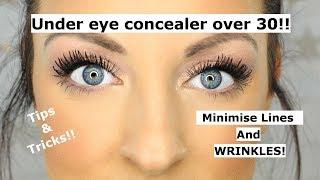 Under eye concealer tips and tricks OVER 30!!