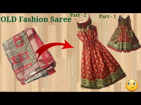 Old saree convert in to Beautiful and simple design dress // Part - 2 // by simple cutting