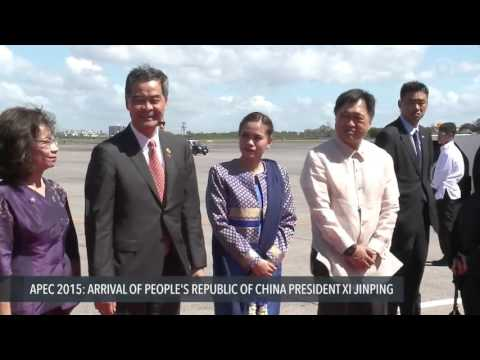 APEC 2015: Arrival of Xi Jinping, China President