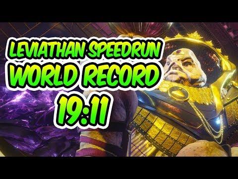 Destiny 2 - LEVIATHAN SPEEDRUN WORLD RECORD! [19:11] [Fastest Leviathan Raid]