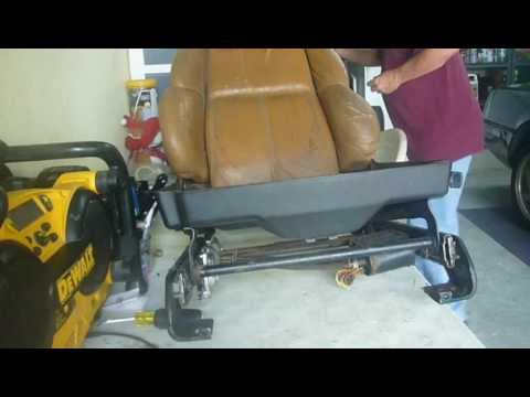 Seat track removal 89 corvette youtube for Garage seat 91