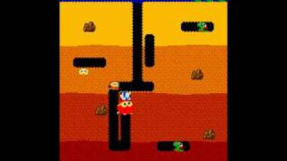 Soldier Plays Dig Dug