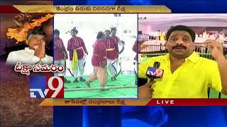 Balakrishna , Lokesh arrive at stadium  for CM Chandrababu Deeksha in Vijayawada