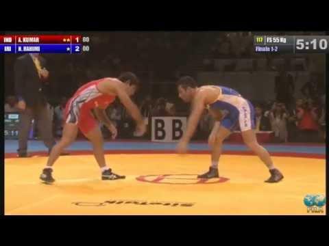 2013 - Senior World Championship - Budapest (HUN) - Wrestling (INDIA) Amit KUMAR (IRAN R.I.) Hassan Farman RAHIMI.
