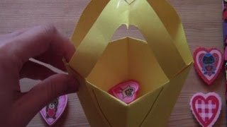 Fun Valentines Origami Tote Bag Craft