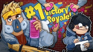 Winning While Drawing In Microsoft Paint!? - Fortnite Battle Royale