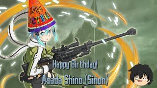 Happy Birthday Asada Shino (Sinon)! Birthday Scout/Quest - Sword Art Online Memory Defrag