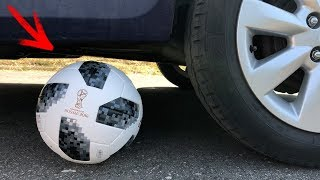 EXPERIMENT: CAR VS WORLD CUP SOCCER BALL