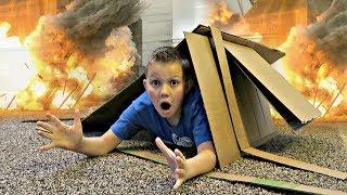 BOX FORT EXPLOSION!