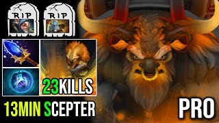 Epic Pro Mid Earthshaker 13Min Scepter - Easy Delete Meepo And PL 23Kills By Moo Crazy Plays Dota 2