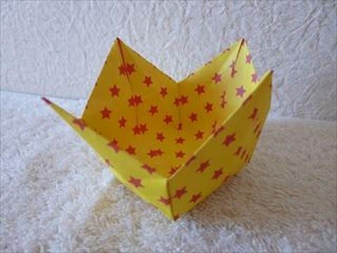 くず入れ箱の折り方 :: VideoLike : 折り紙小物入れ折り方 : 折り方