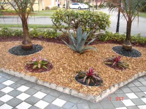 Dise o de jardines en miami youtube Jardines pequenos adornados con piedras