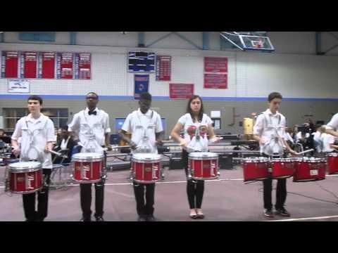 Somerville High School Drum Line performs