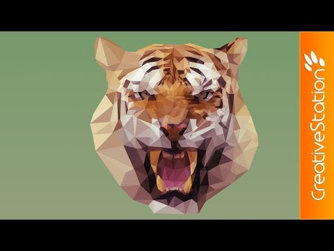 Tiger - Speed art (#Photoshop) | CreativeStation