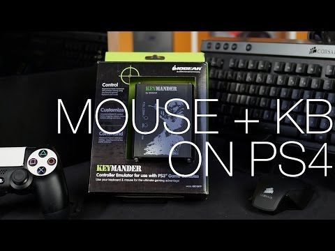 IOGear Keymander - Using a Mouse and Keyboard on a PS4 ft. Setup Guide