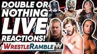 AEW All Elite Wrestling Double Or Nothing LIVE REACTIONS!   WrestleTalk's WrestleRamble