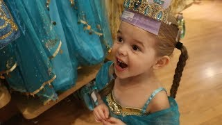 THE ONLY PRINCESS DRESS SHE DOESN'T HAVE.. (TRIP TO THE DISNEY STORE!)