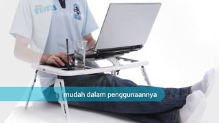 [0812-1986-2174 | Meja laptop lipat portable e-table | Meja l...] Video