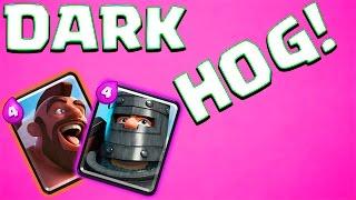 DARK HOG RIDER DECK! | Clash Royale | BRUTAL DAMAGE