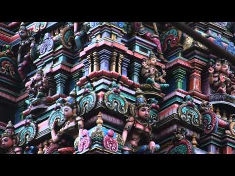 The Famous Hindu Temple at Silom Road, Bangkok, Thailand