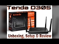 Tenda D305 Long Range 4 Antenna ADSL Router Unboxing, Setup, Review & Advice thumbnail