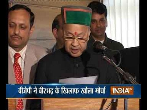 Himachal Pradesh CM Virbhadra Singh lands in Delhi