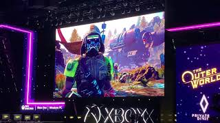 The Outer Worlds Crowd Reaction! - E3 2019
