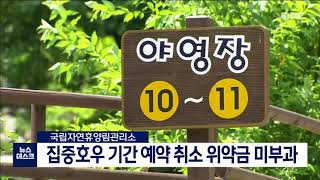 도권/집중호우 기간 예약 취소 위약금 면제