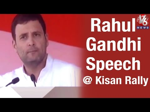 Rahul Gandhi Speech at Kisan Rally in Delhi (19-04-2015)