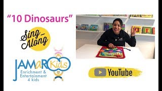 10 Dinosaurs : Kids Educational Song : JAMaROO Kids