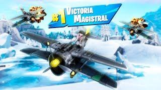 ✈️ INCREIBLE FINAL CON AVIÓN!! FORTNITE: Battle Royale