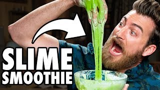 Edible Slime Smoothie Taste Test