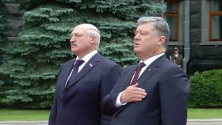The President of Ukraine Poroshenko meets the President of Belarus Lukashenko in Kyiv