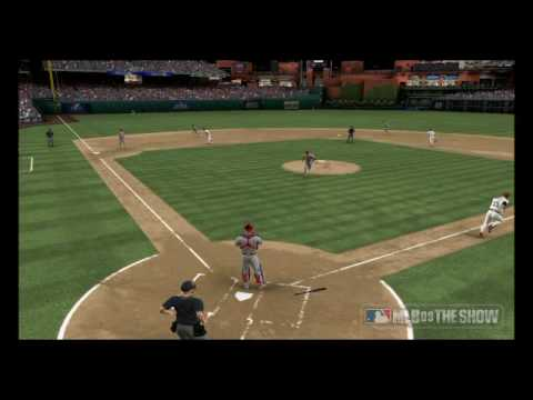 MLB 09 THE SHOW: ONLINE Highlight - Phillies @ Cardinals - Skip Schumaker Game Winning RBI Video
