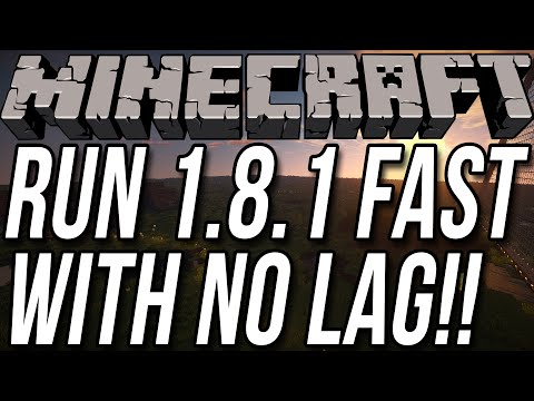 How To Run Minecraft 1.8.1 Fast With No Lag!! (Setup Optifine In 1.8.1!!)