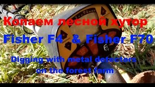 Копаем лесной хутор Fisher F4 & Fisher F70 Digging with metal detectors on the forrest farm