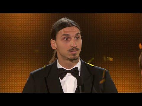 Zlatan tilldelas Guldbollen - höll ett känslosamt tal - TV4 Sport