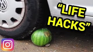 AWFUL INSTAGRAM LIFE HACKS