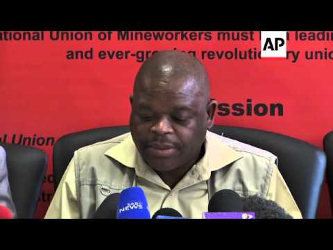 Union leaders welcomes  withdrawal of murder charges against miners